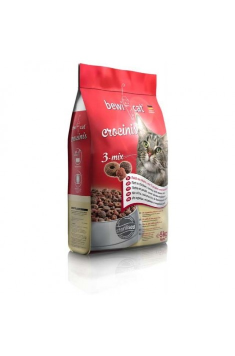 Bewi Cat food Crocinis 3-mix 5 Kg