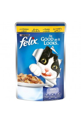 Purina Felix As Good as it Looks Wet Cat Food Pouch 100 g ( Chicken in Jelly)
