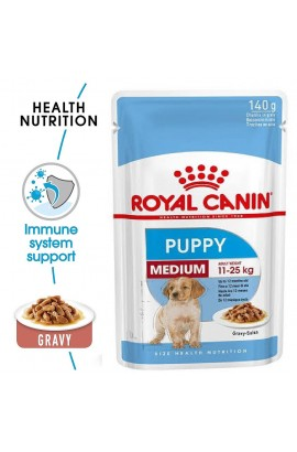 Royal Canin Medium Puppy Pouch Gravy 140g