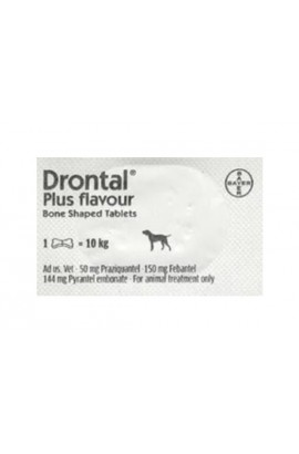 Drontal Dogs 1 Bone Tablet