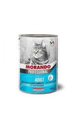 Morando Professional Adult Cat Pate With White Fish & Shrimps 400g